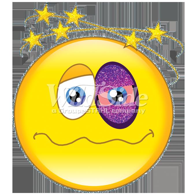 Face blackeye emoji . Eye clipart happy