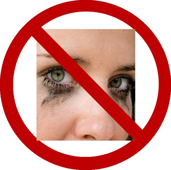 No sign mascara run. Eyelash clipart vector