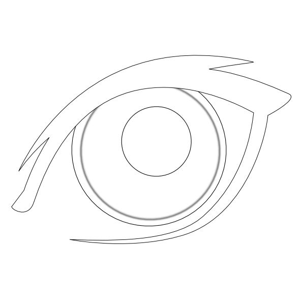Black and white clip. Eye clipart outline