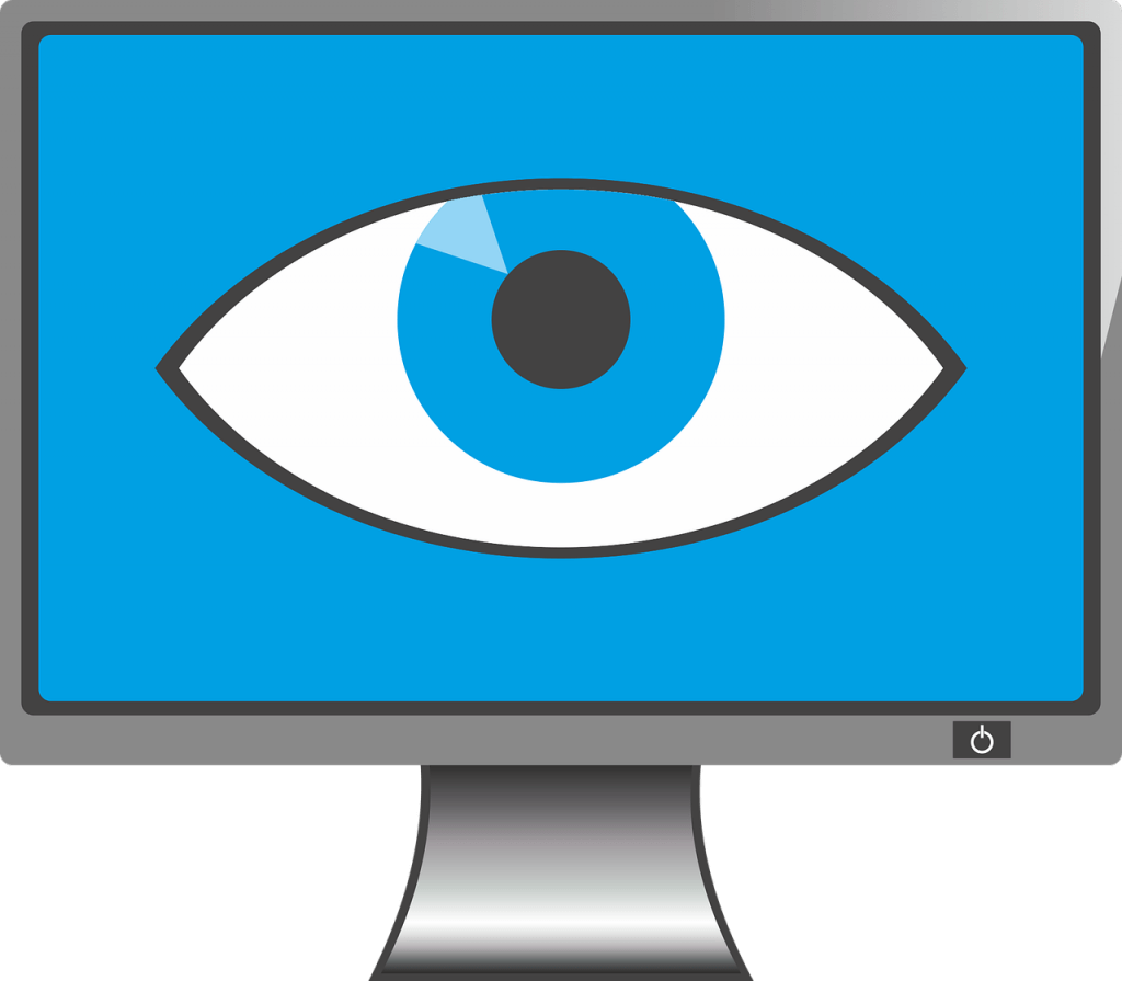 March is safety month. Vision clipart simple eye