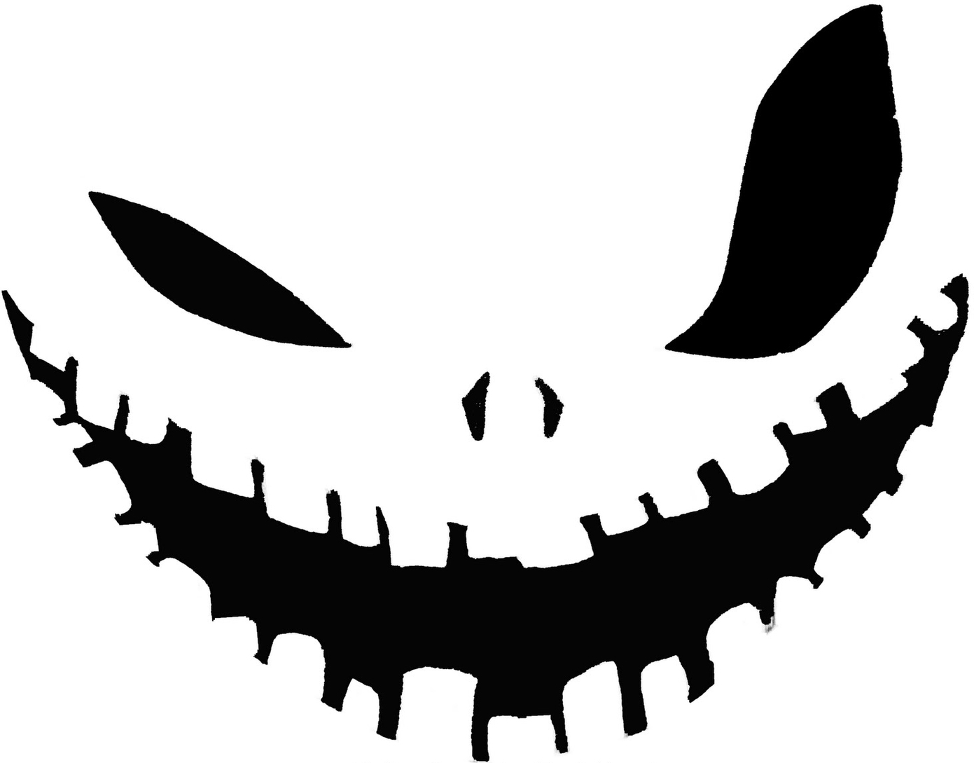 Big wicked smile face. Eye clipart pumpkin