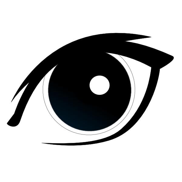 Eye clip art at. Eyeballs clipart eyeball line