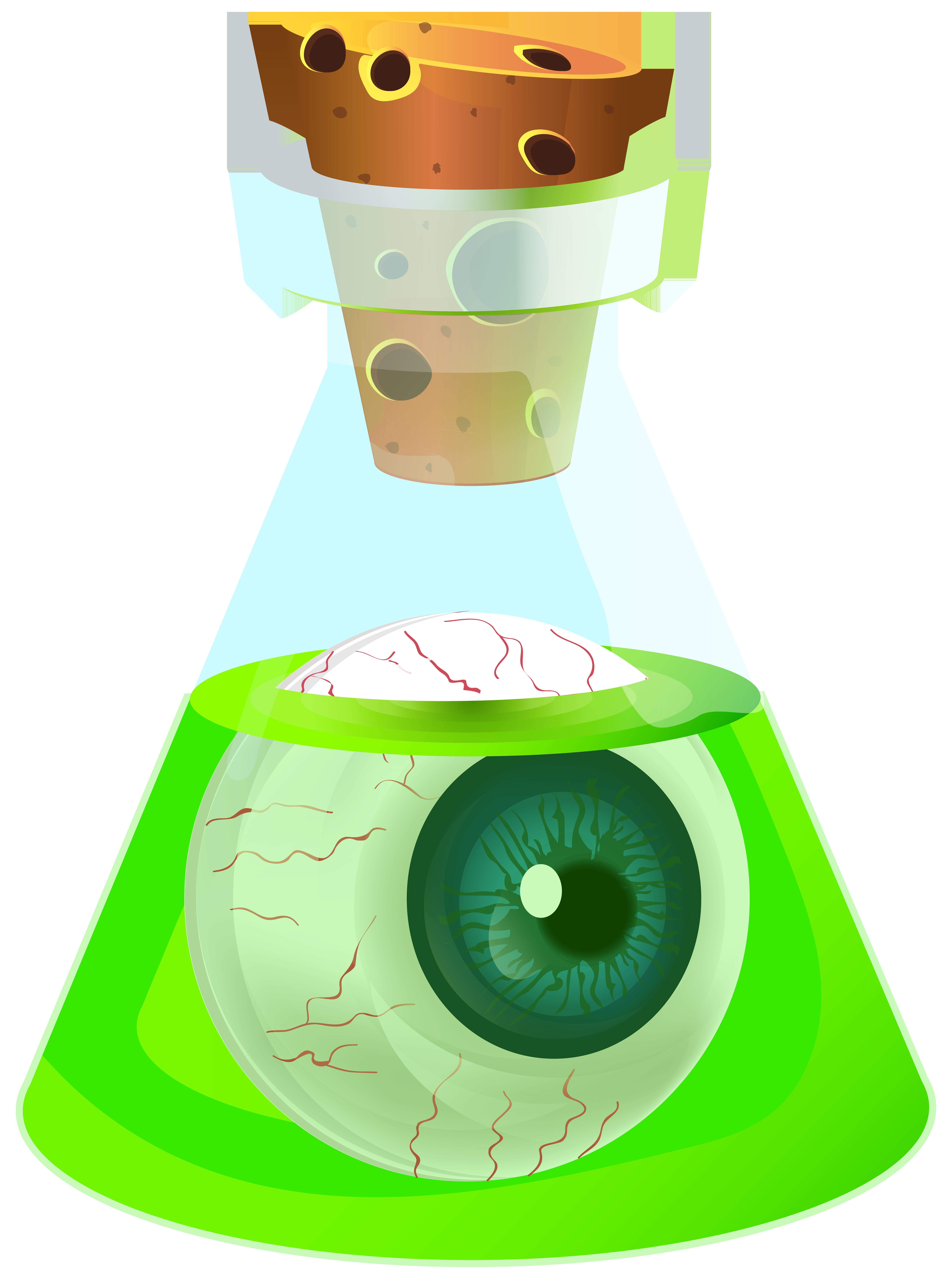 Poison potion with eyeball. Eyeballs clipart halloween
