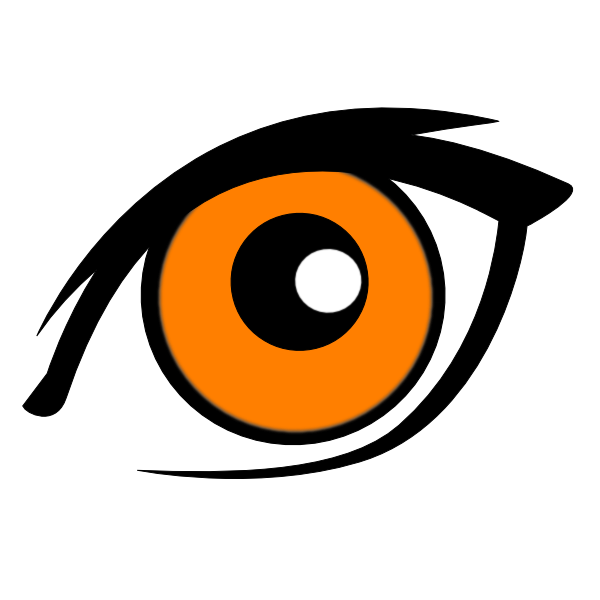 Golden eyes clip art. Eyebrow clipart 2 eye