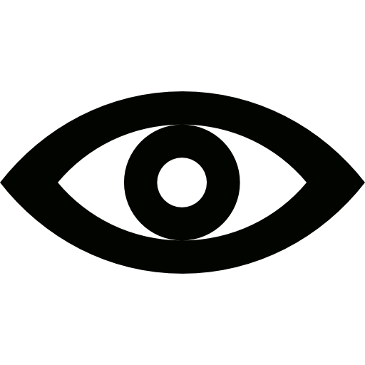 Eye icon png. Red free of lineal
