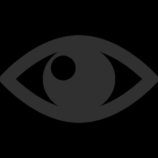 Eye icon png. Mono general iconset custom