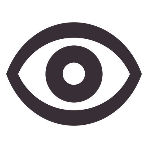 Transparent svg vector. Eye icon png