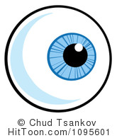 Eyeball clipart. Royalty free stock illustrations