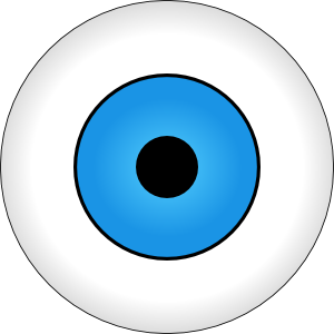 Eyeballs clipart alien. Tonlima olho azul blue