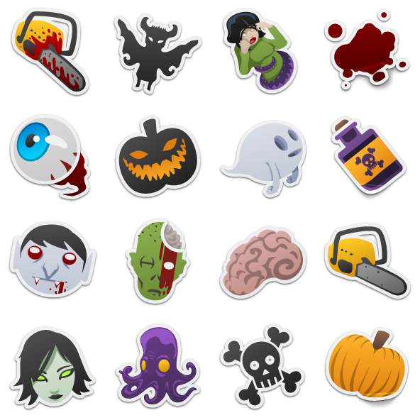 Spooky clipart sticker. Stickers free icons icon