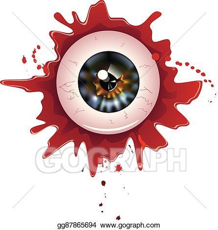 Vector art halloween eps. Eyeball clipart bloody