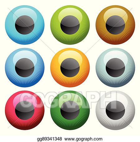 Eyeball clipart colorful eye. Vector illustration icon s