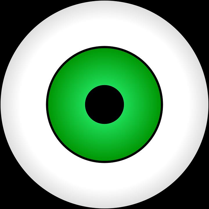 Eyes clipart outline. Eyeball eyesight free on
