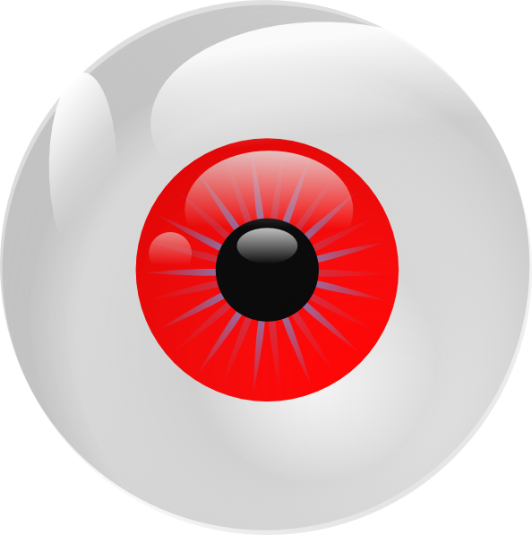 Eyeball clipart eye ball. Red clip art at