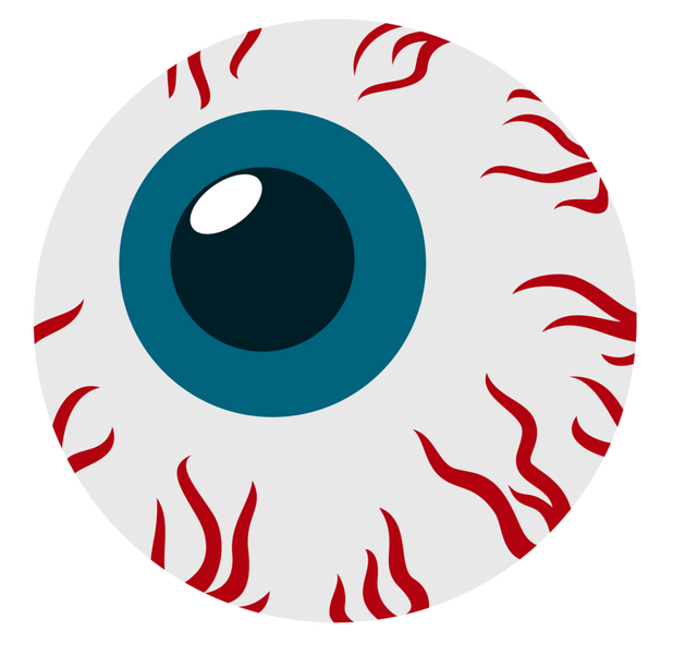 Scary halloween eyes cartoon. Eyeballs clipart spooky