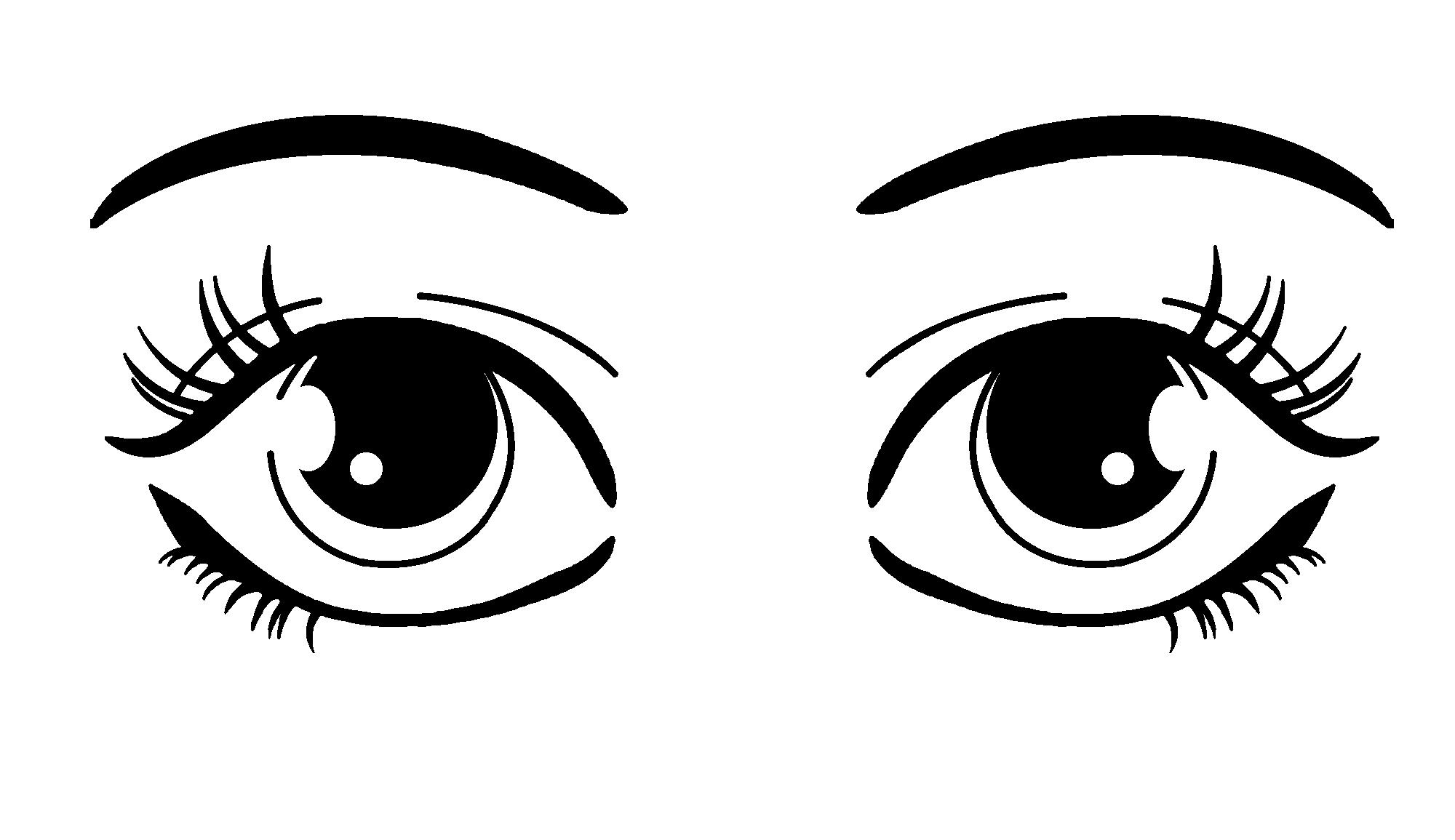 Eyebrow clipart 2 eye. Free cartoon eyeballs cliparts