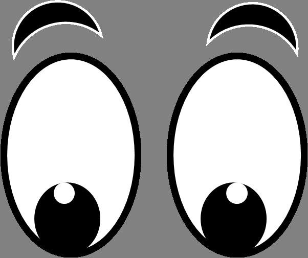 Free big cartoon eyes. Eyeball clipart large