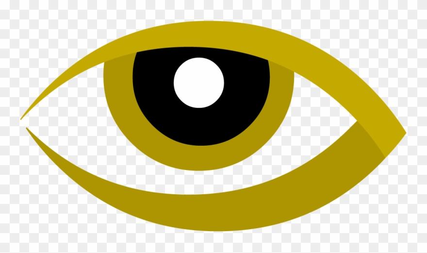 Design eye in gold. Eyeball clipart logo