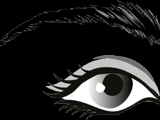 Eyeball clipart mata. Eye black and white