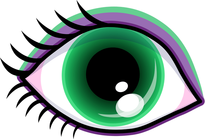 Eyeball clipart mata. Jidimakeup com eye clip
