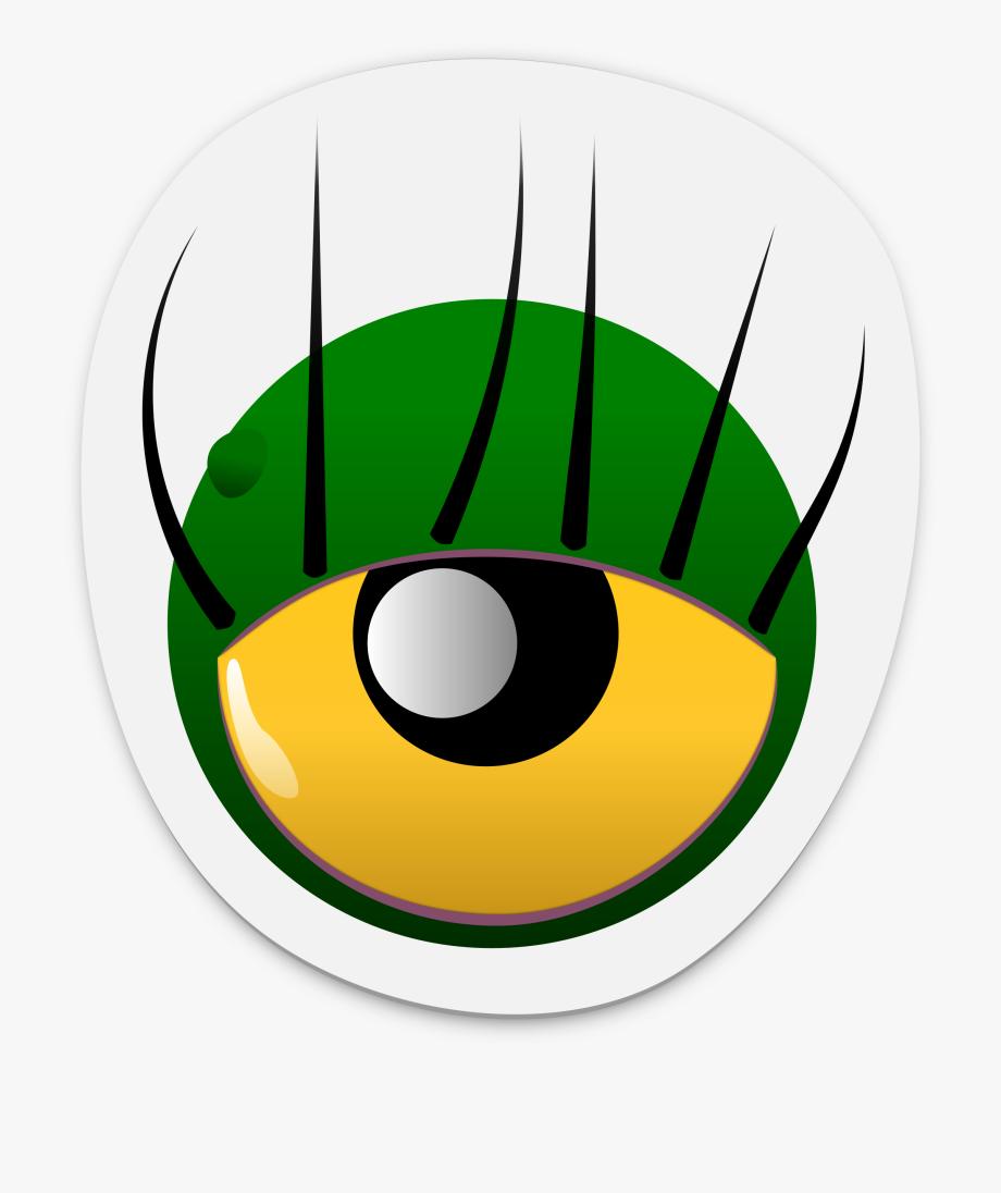 Eyeball clipart monster eyeball. Green eye