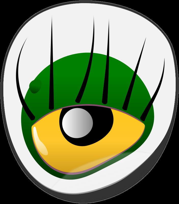 Eye sticker medium image. Eyeball clipart monster eyeball
