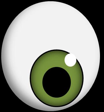 Eyeball clipart monster eyeball. Green eye clip art