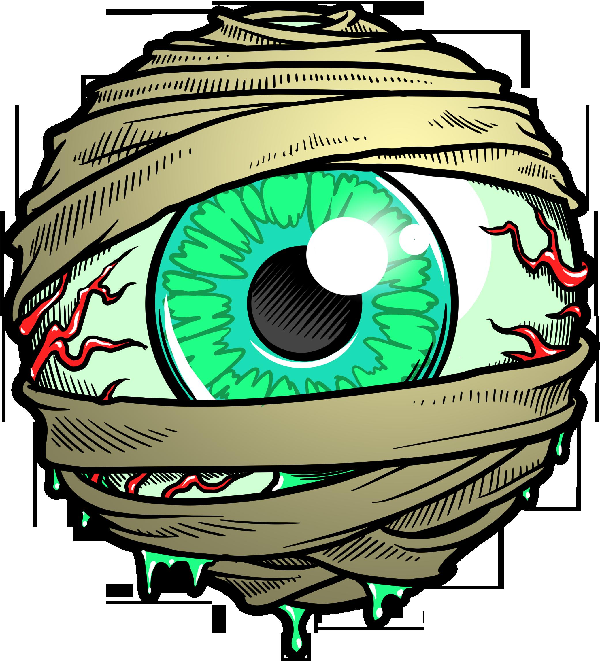 Eyeballs clipart mummy. Eyeball w ltr n