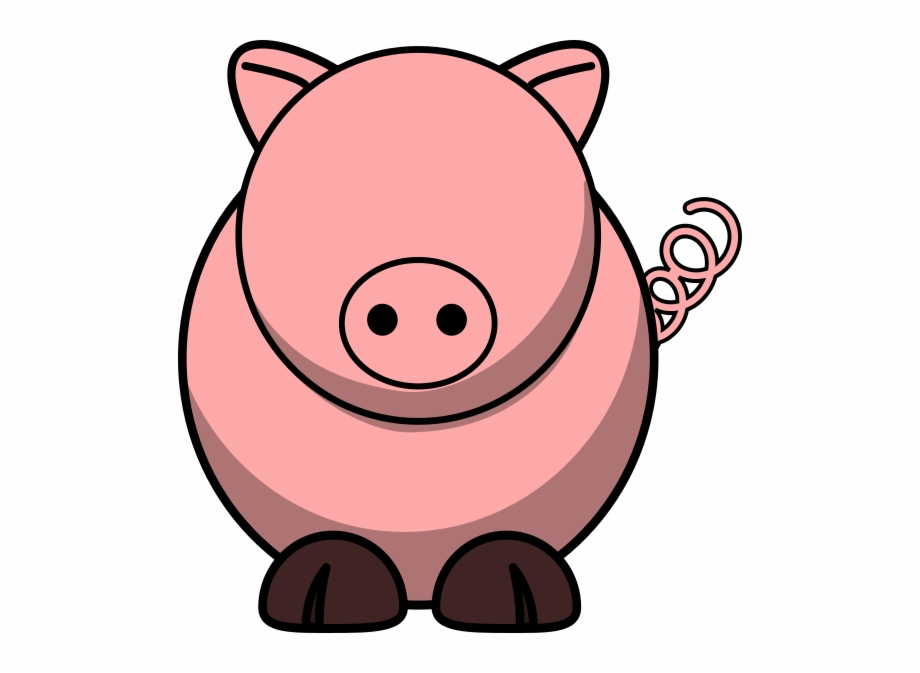 With no eyes clip. Eyeball clipart pig
