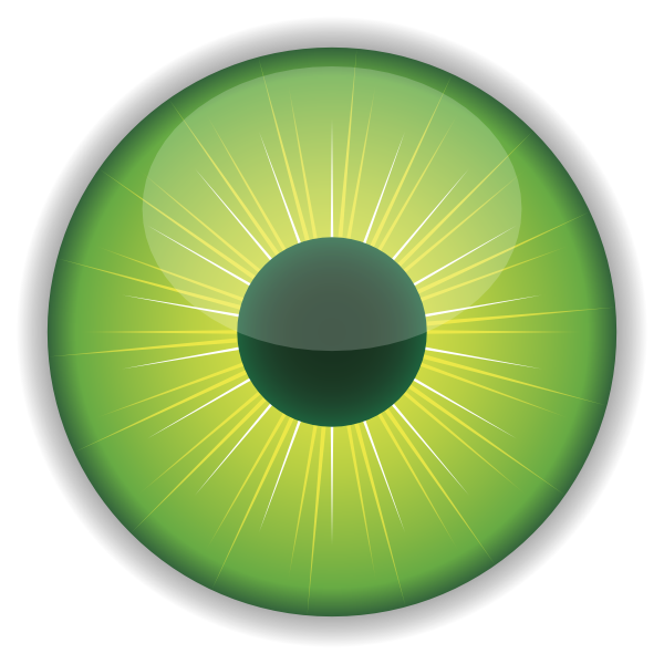 Vision clipart visual. Green eye clip art