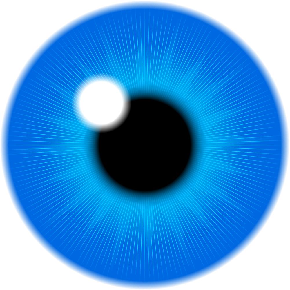 Eyeball clipart pupil eye. Onlinelabels clip art blue