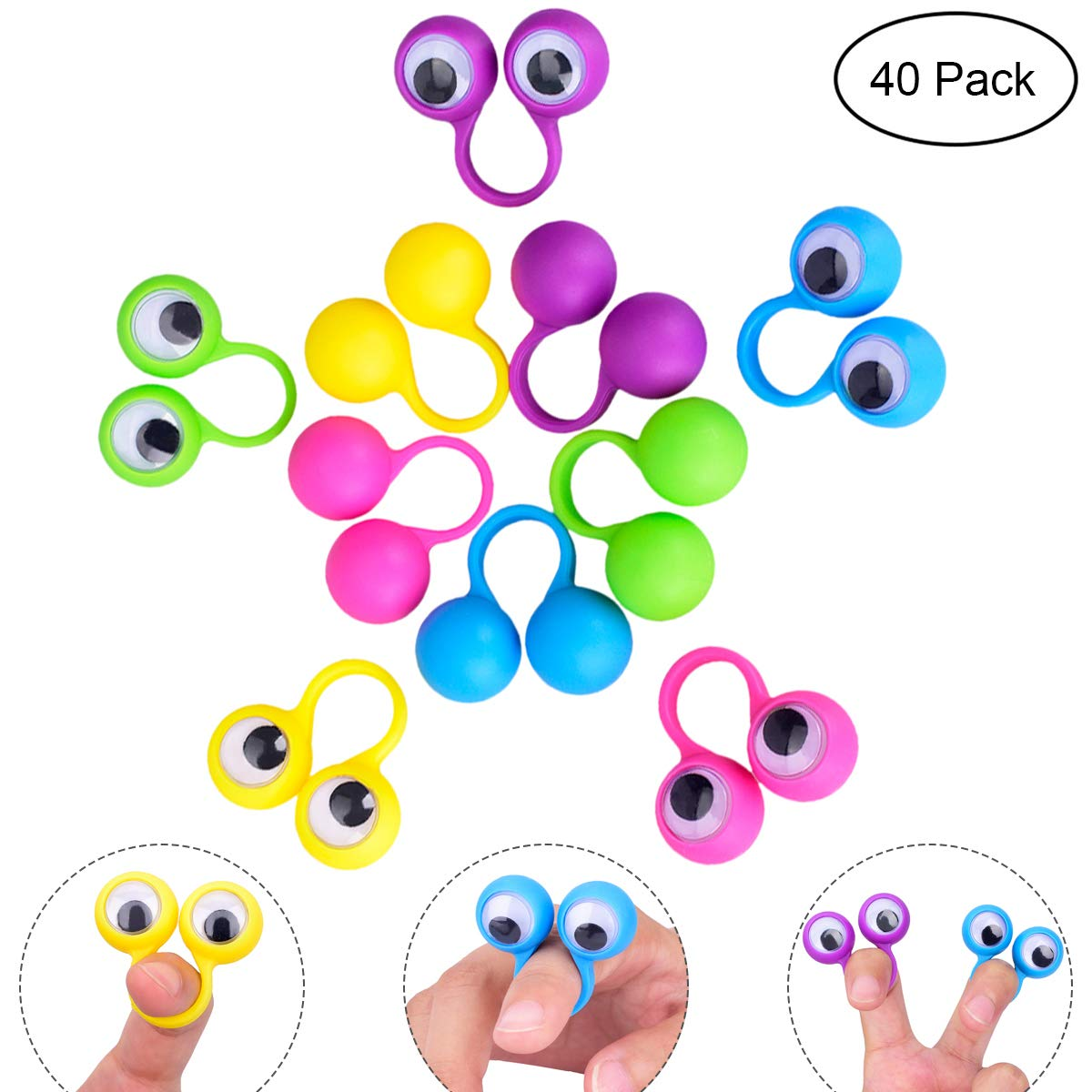 Eyeball clipart puppet. Amazon com youngrich pieces