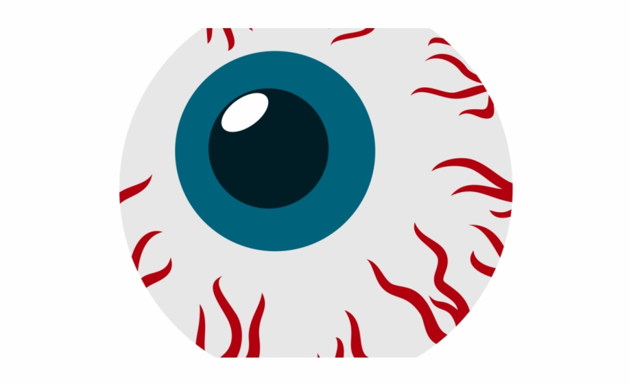 Eyes creepy bloodshot cartoon. Eyeball clipart red eye