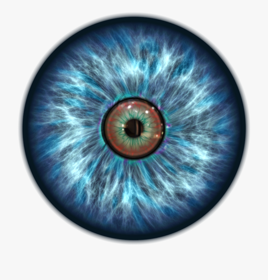 Pupil blue transparent background. Eyeball clipart robotic eye