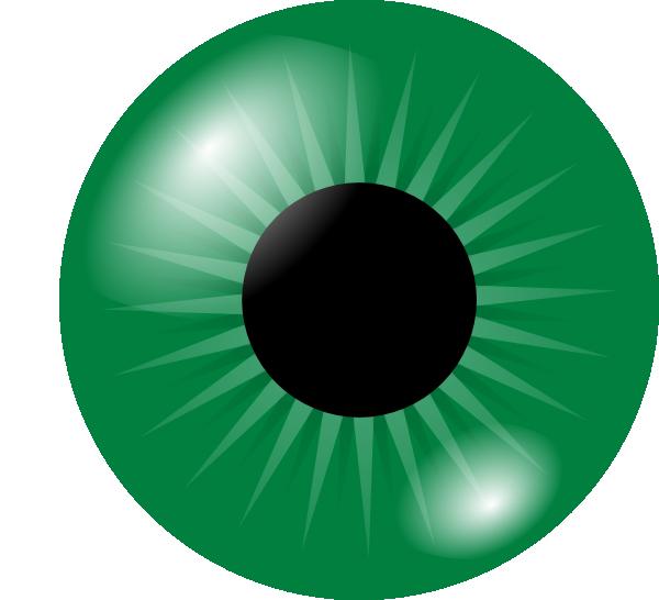 Eyeball clipart robotic eye. Green clip art at