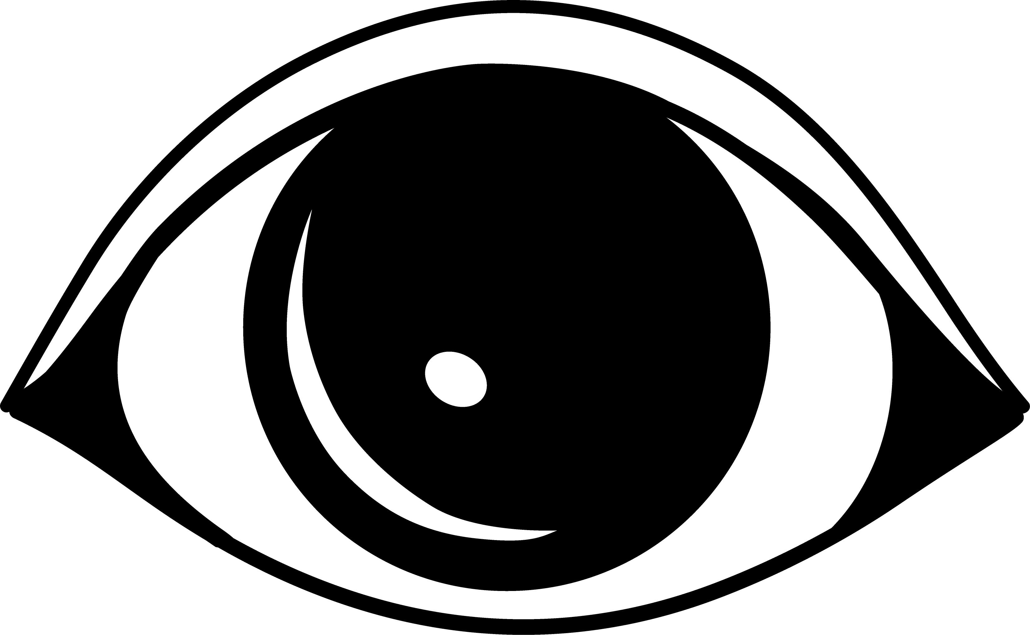 Great of black and. Vision clipart simple eye