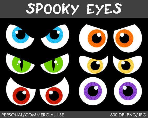 Eyeballs clipart spooky. Eyes clip art digital