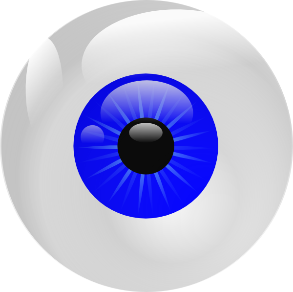 Blue clip art at. Eyeball clipart square eye