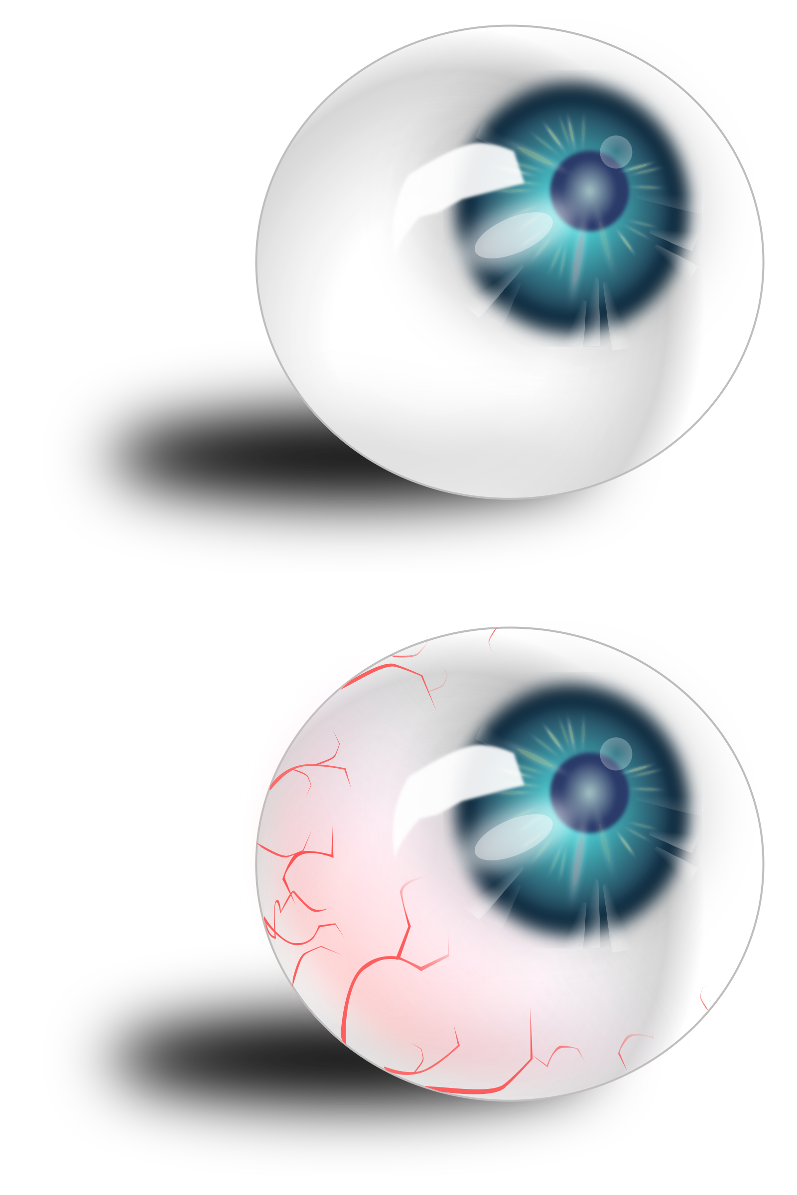 Blue bloodshot icons png. Eyeball clipart svg