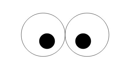 Eyeball clipart template. Eye templates for crafts