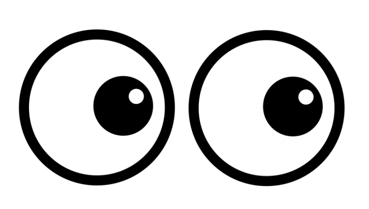 Eyeballs clipart black and white. X free download best