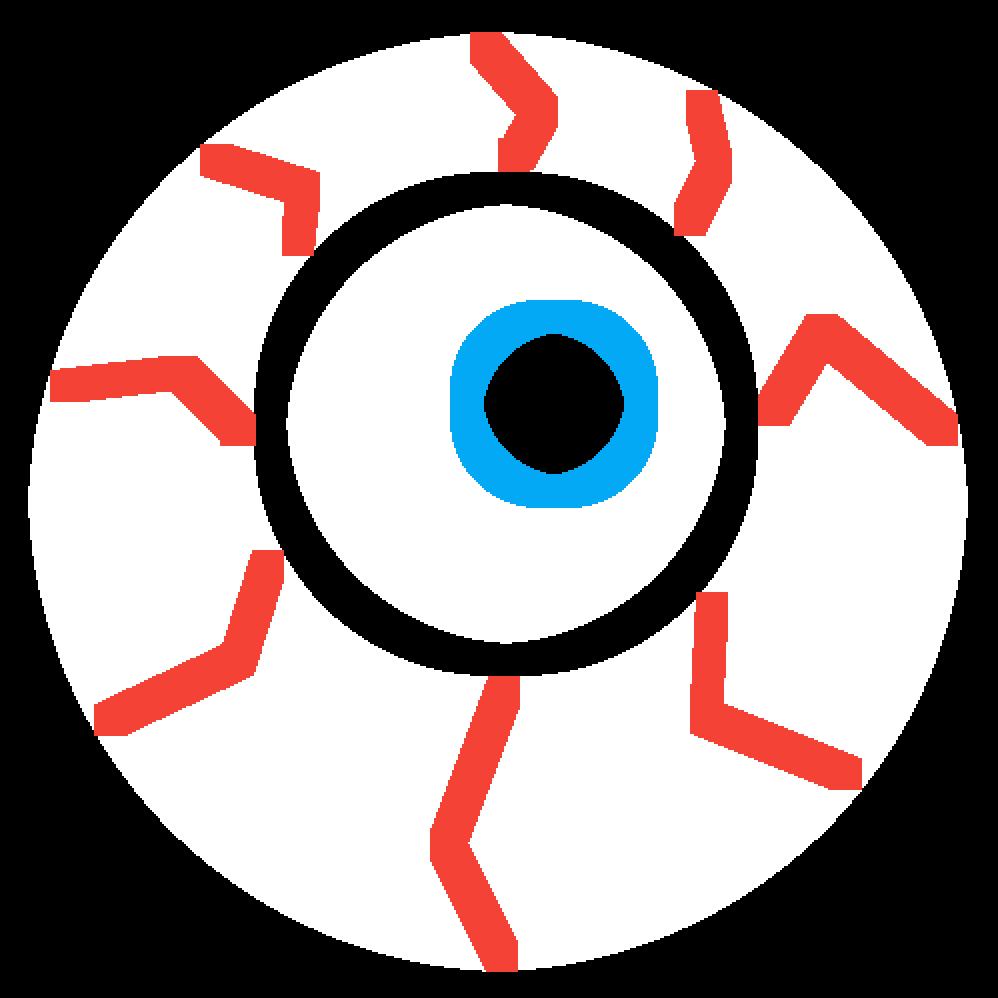 Eyeballs clipart bloodshot eye. Pixilart blood shot by