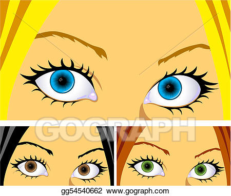 Vector art eyes and. Eyeballs clipart colourful