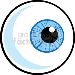 Cartoon blue eyeball royalty. Eyeballs clipart eye ball