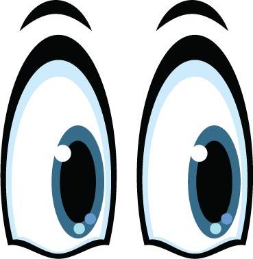 Eyes shapes vector cartoon. Eyeballs clipart eye shape