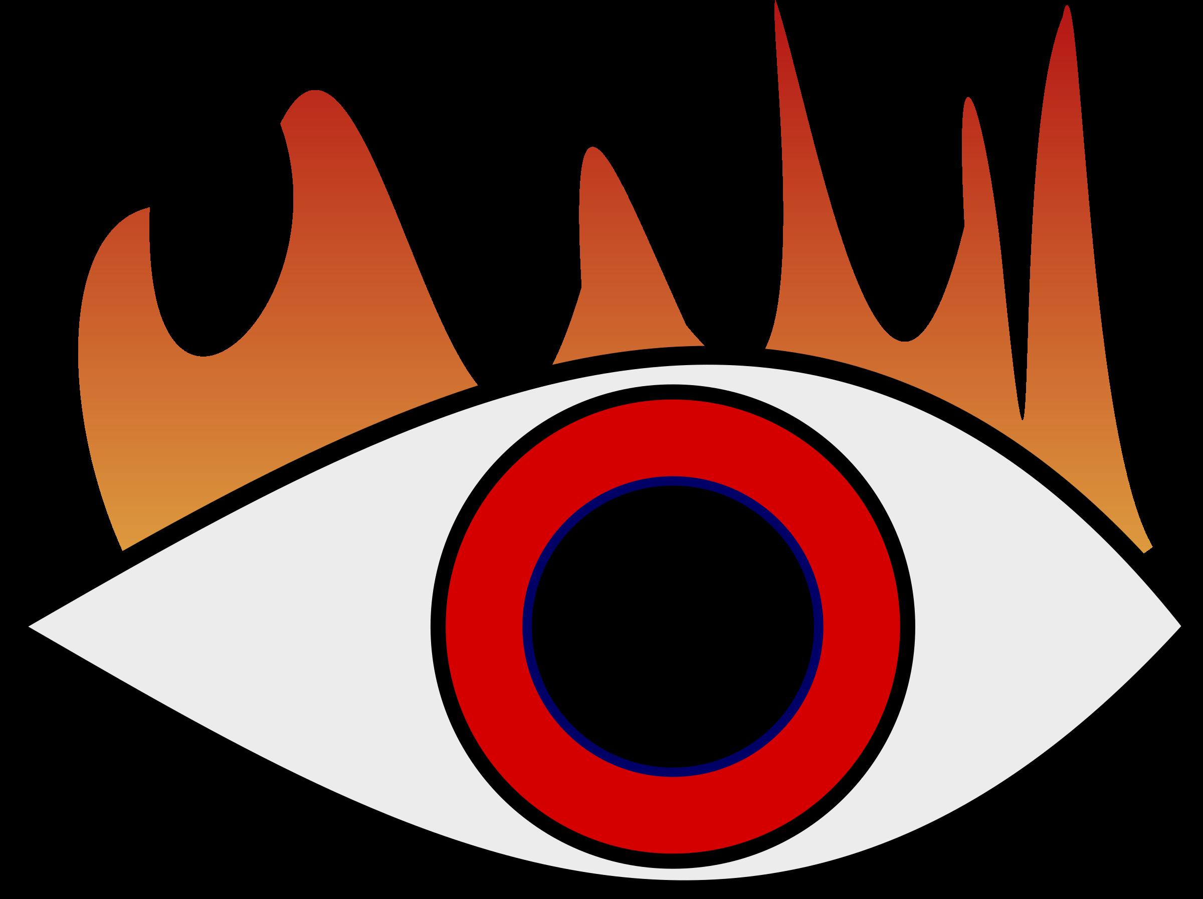 Eyeball clipart eye symbol. Burning big image png