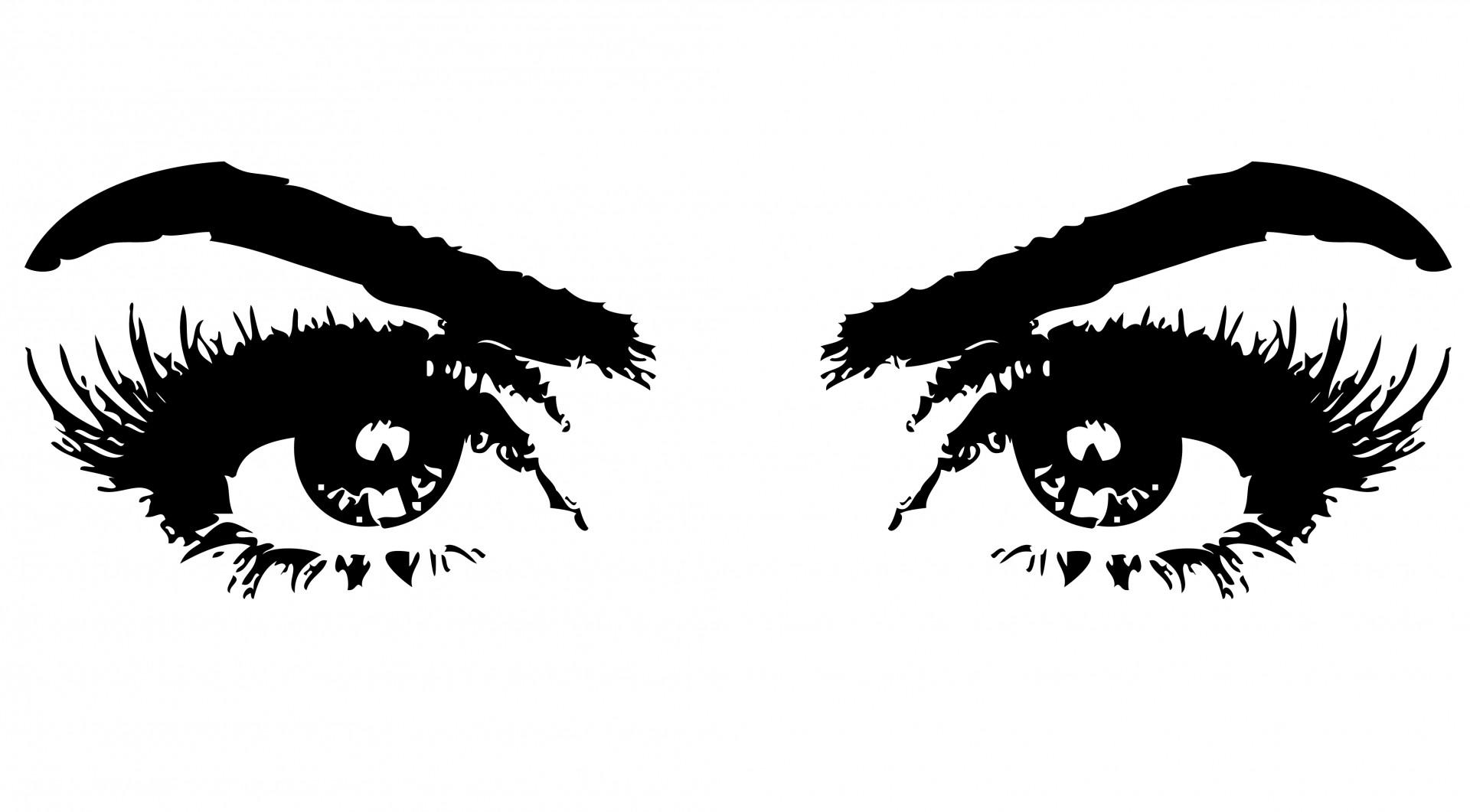 Eyeballs clipart female eye. Eyes of woman free
