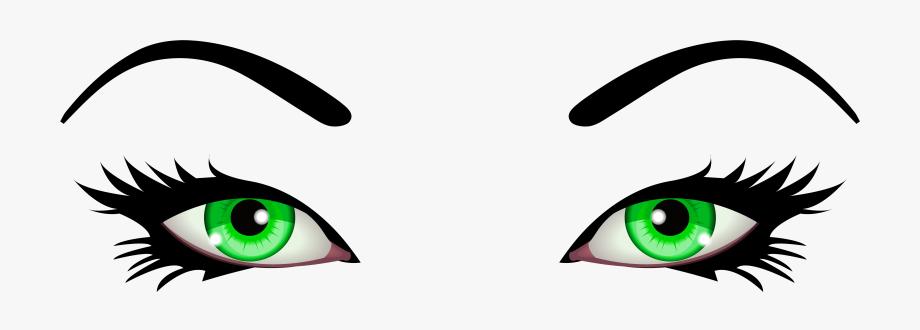 Eyeballs clipart female eye. Green eyes png clip