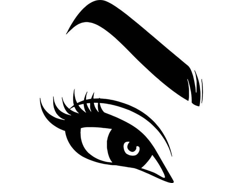 Eyeballs clipart lady eye. Women eyebrow eyelash eyeball