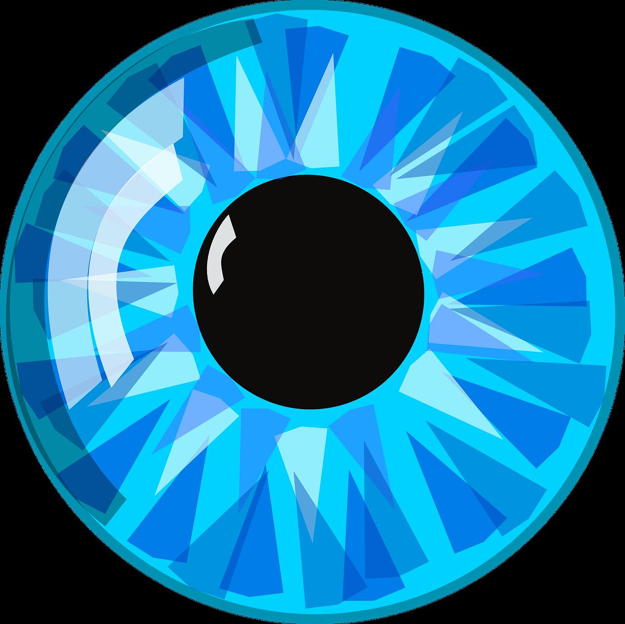 Blue pupil eyeball iris. Eyeballs clipart male eye
